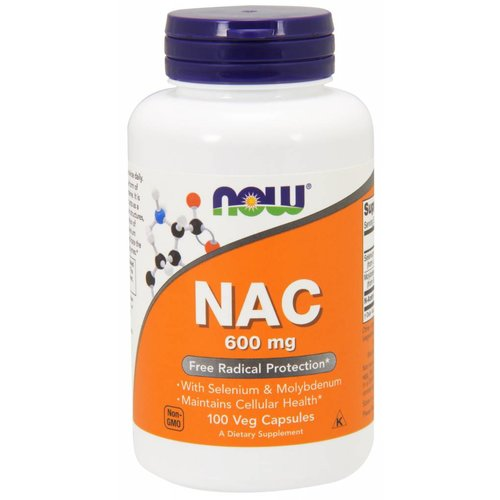 NOW NAC-ACETYL CYSTEINE 600mg 100 VCAPS