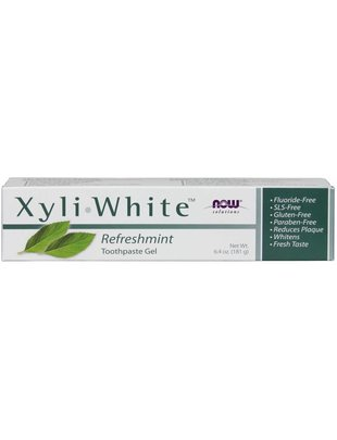 NOW FOODS XYLIWHITE TOOTHPASTE MINT  6.4 OZ