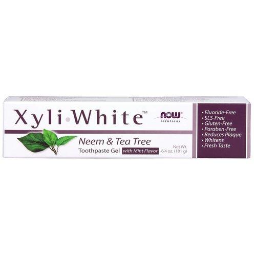 NOW XYLIWHITE NEEM & TEA TREE TOOTHPASTE 6.4 OZ