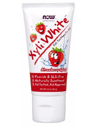 NOW FOODS XYLIWHITE KID'S TOOTHPASTE STRAWBERRY 3 oz.