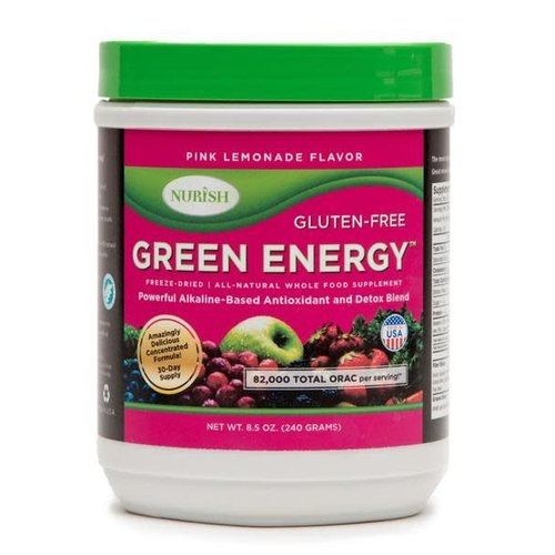 NURISH GREEN ENERGY PINK LEMONADE