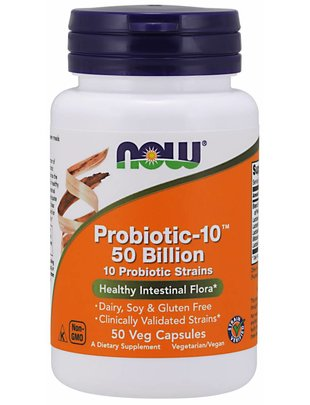 NOW FOODS PROBIOTIC-10 50 BILLION  50 VCAPS