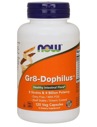 NOW FOODS GR 8 DOPHILUS - ENTERIC  120 VCAPS
