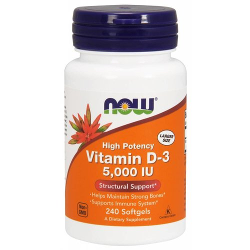 NOW D-3 5,000 IU 240 softgels