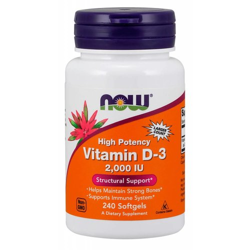 NOW D-3 2,000 IU 240 Softgels