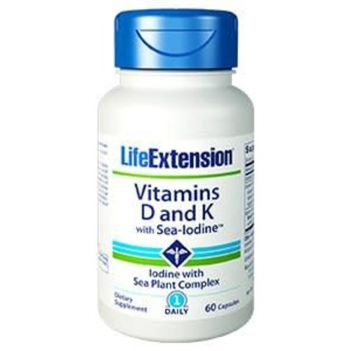 LIFE EXTENSIONS VITAMIN D AND K W/ SEA-IODINE