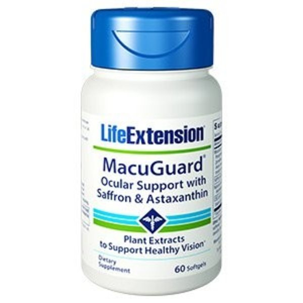 LIFE EXTENSIONS MACUGUARD OCULAR SUPPORT WITH SAFFRON AND ASTAXANTHIN 60 SOFTGELS