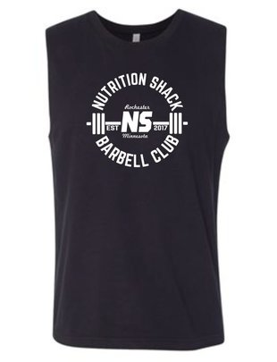 NUTRITION SHACK MEN'S BARBELL CLUB MUSCLE SHIRT
