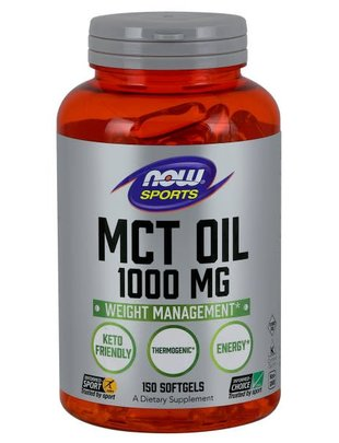 NOW FOODS MCT Oil 1000mg 150 softgels