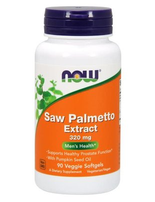 NOW FOODS SAW PALMETTO 320 MG  90 VGELS