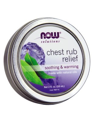 NOW SOLUTIONS CHEST RUB RELIEF 2 FL OZ.