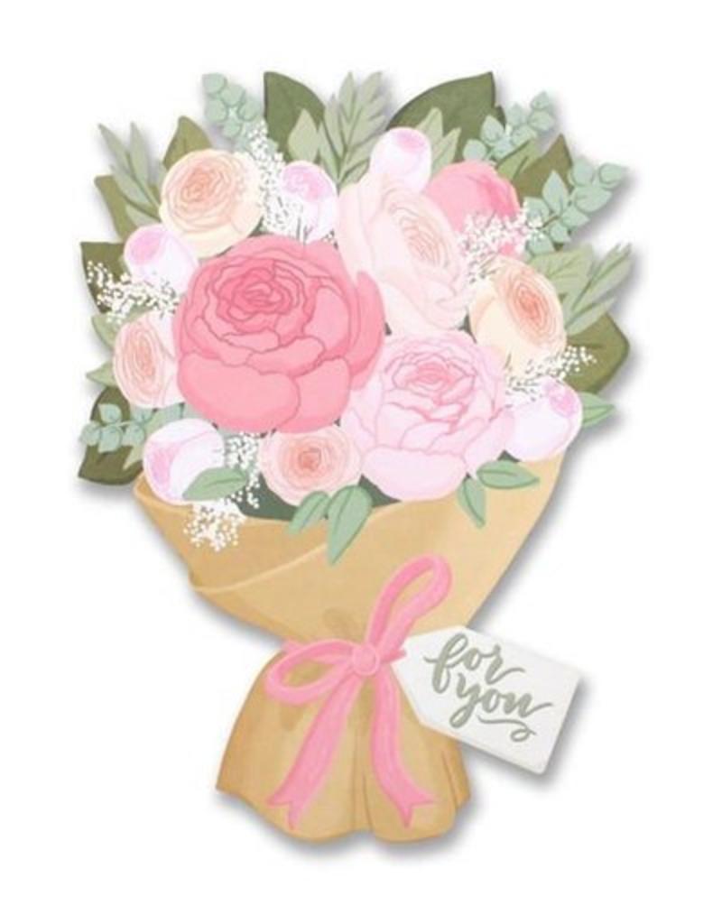 Alexis Mattox Design Flower Bouquet Die Cut Card Stash Apparel And