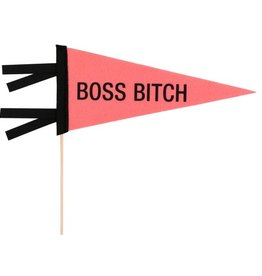 boss bitch pennant