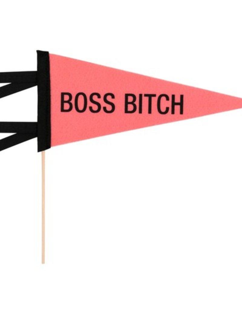 boss bitch pennant FINAL SALE