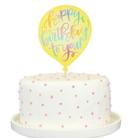 alexis mattox design happy birthday to you paper cake topper Stash