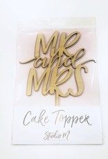alexis mattox design mr & mrs block cake topper