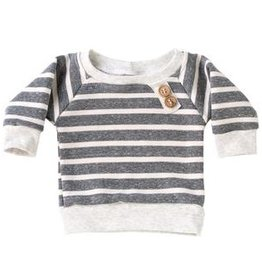 chunky gray stripe sweatshirt FINAL SALE