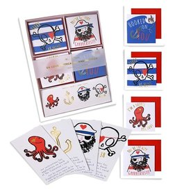 meri meri Pirates Cards and Tattoos valentines FINAL SALE