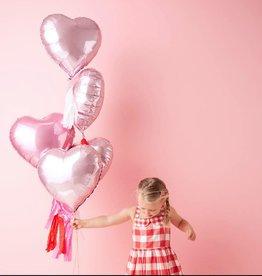 meri meri heart mylar balloons - set of 6 FINAL SALE