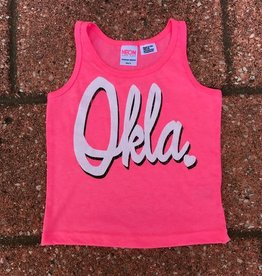 LivyLu kids pink okla tank FINAL SALE