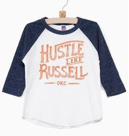 LivyLu hustle like russell baseball tee