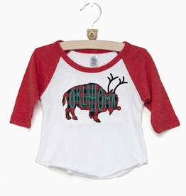 LivyLu kids bison reindeer baseball sleeve tee FINAL SALE