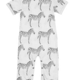 milkbarn grey zebra romper