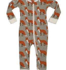 milkbarn orange fox zip pjs
