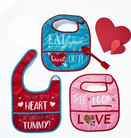 two's company bib n heart arrow spoon FINAL SALE