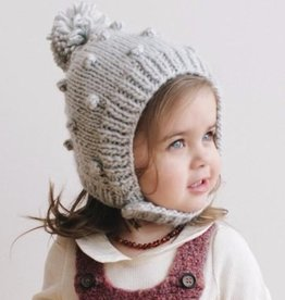 The Blueberry Hill bowie bonnet with bubbles and pom pom