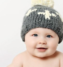 The Blueberry Hill miko swiss cross knit hat, Blk, XS (3-12mo)