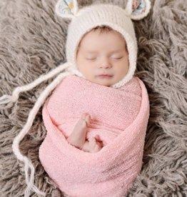 The Blueberry Hill harper bear mohair knit bonnet