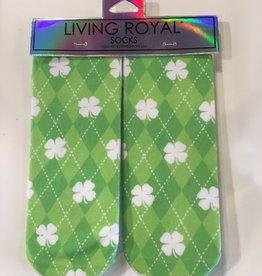 living royal shamrocks ankle socks