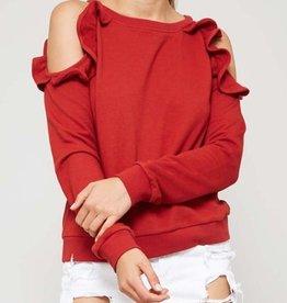 hazel cold shoulder top