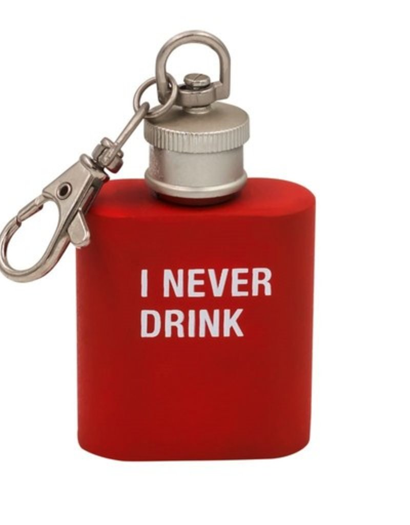 never drink key ring flask