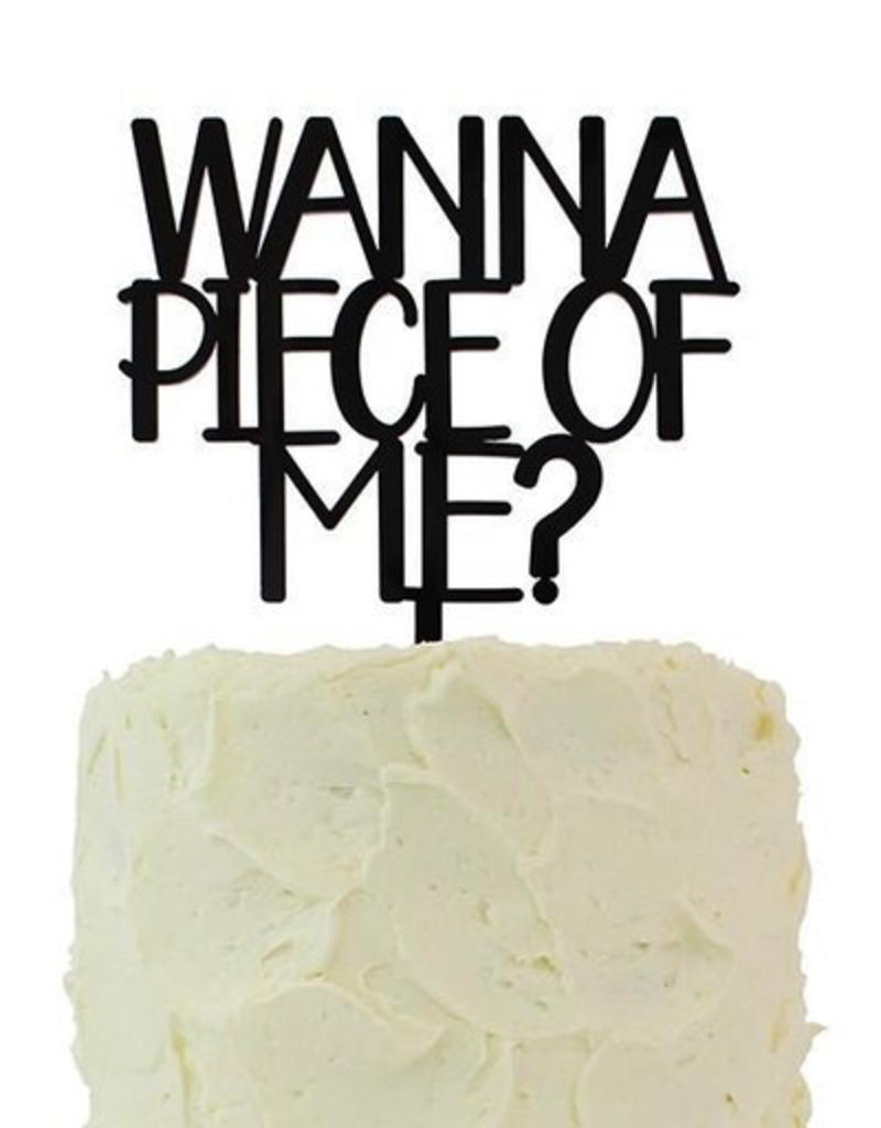 alexis mattox design wanna piece of me cake topper stash apparel
