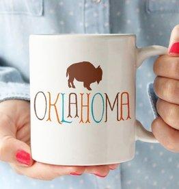 rock scissors paper oklahoma w/ buffalo mug