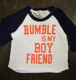 LivyLu rumble is my boyfriend baseball sleeve tee
