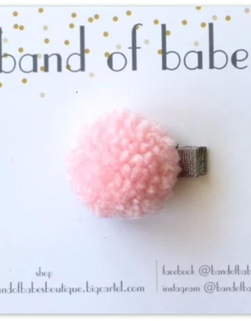 band of babes pink pom clip