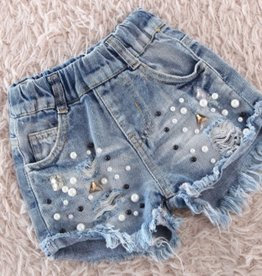 toddler distressed cutoffs FINAL SALE