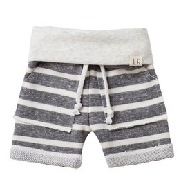 chunky gray stripe shorts FINAL SALE