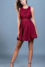fit and flare open back dress FINAL SALE