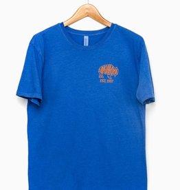 LivyLu blue bison outline pigment dyed tee
