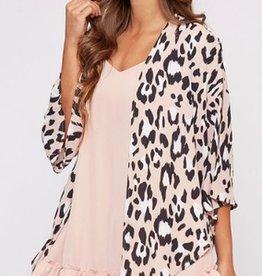 leopard animal print kimono