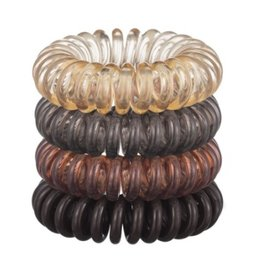 4 pack hair coil - brunette