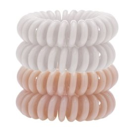 4 pack hair coils - nude