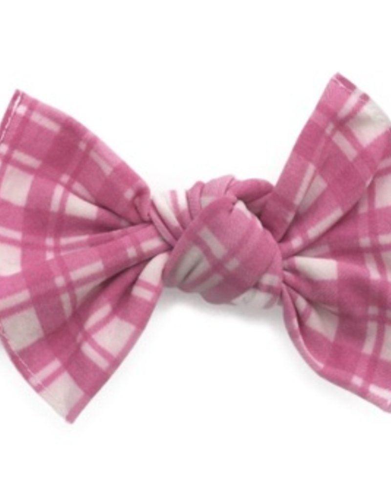 Baby Bling printed knot: pink plaid
