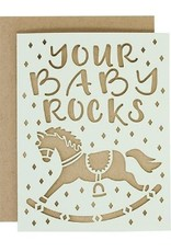 alexis mattox design your baby rocks laser cut card
