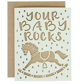 alexis mattox design your baby rocks laser cut card