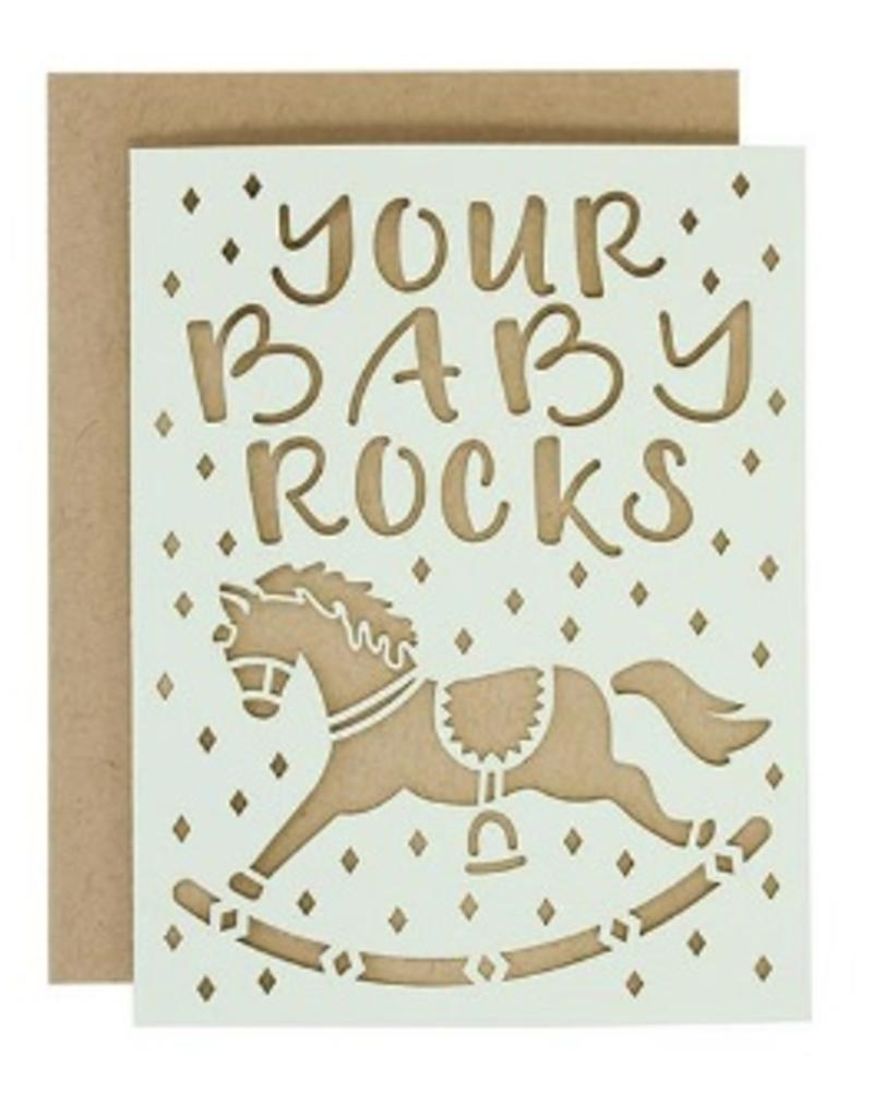 alexis mattox design your baby rocks laser cut card stash apparel